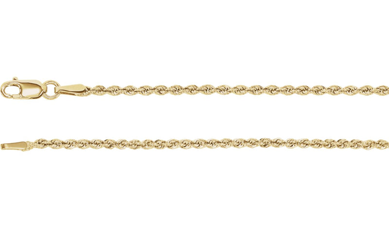 "14K Yellow 1.85 mm Rope Chain 18"" Chain"