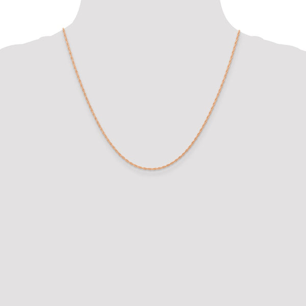 14k Rose Gold 1.15mmCarded Cable Rope Chain