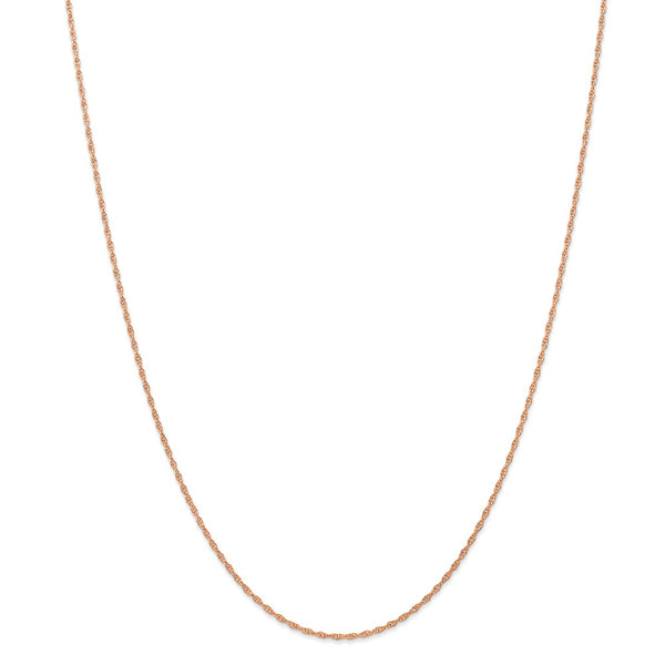 14k Rose Gold 1.15mm Carded Cable Rope Chain