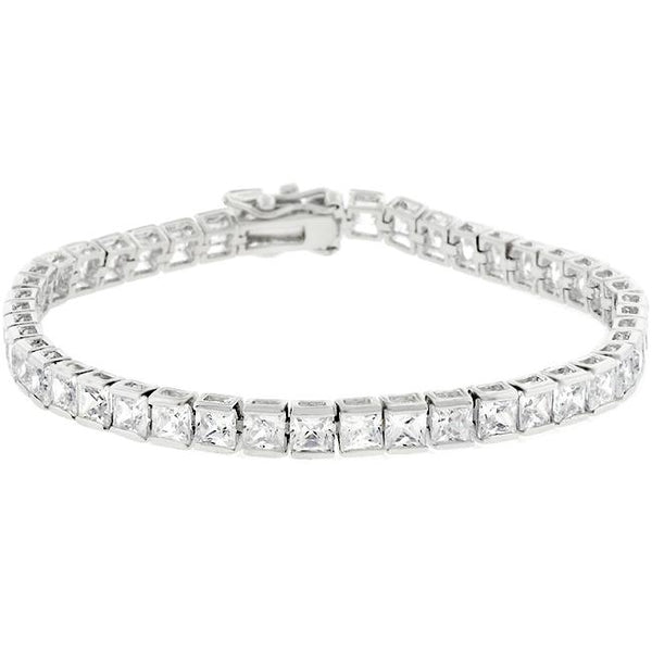 Clear Cubic Zirconia Tennis Bracelet - THE LUSTRO HUT
