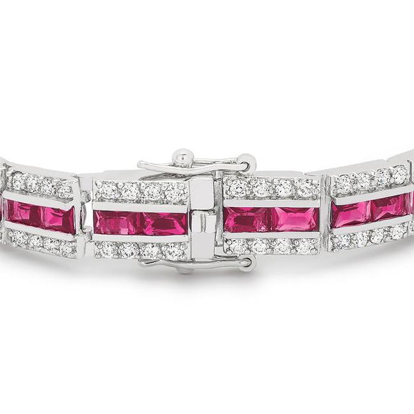 Balboa Red Cubic Zirconia Bracelet - THE LUSTRO HUT
