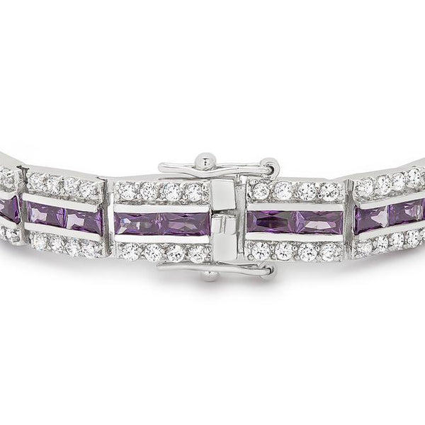 Balboa Purple Cubic Zirconia Bracelet - THE LUSTRO HUT