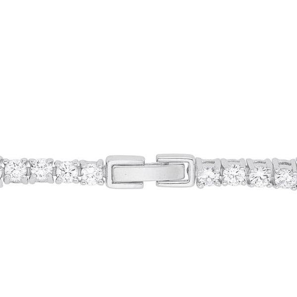 Elegant Pear and Round Cubic Zirconia Tennis Bracelet