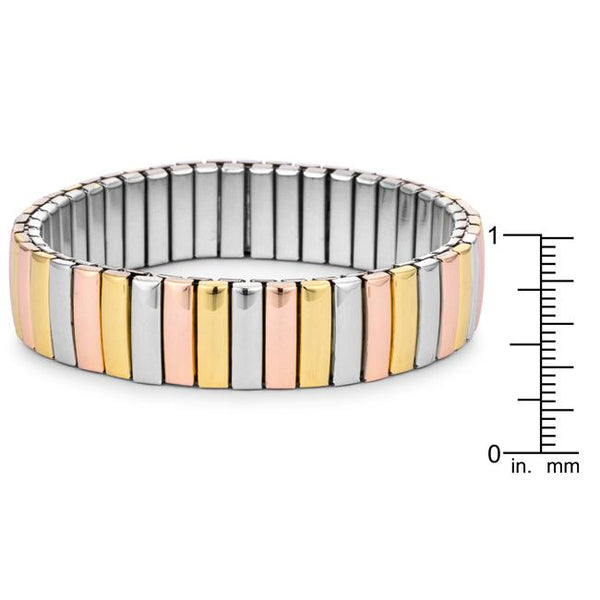 Tritone 14mm Stainless Steel Stretch Bracelet - THE LUSTRO HUT