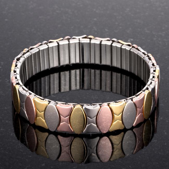 Tritone 13mm Stainless Steel Stretch Bracelet - THE LUSTRO HUT