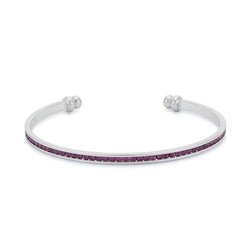 Channel-Set Amethyst Purple Cubic Zirconia Cuff - THE LUSTRO HUT
