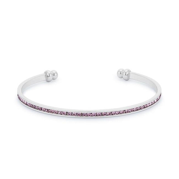 Channel-Set Lavender Cubic Zirconia Cuff - THE LUSTRO HUT