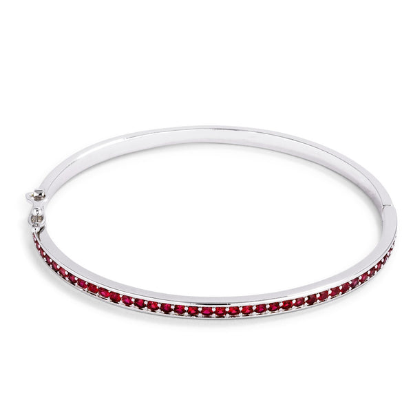 Red CZ Bangle Bracelet
