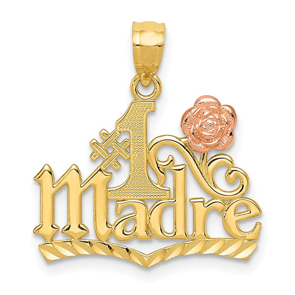 14k Yellow & Rose Gold #1 Madre Pendant