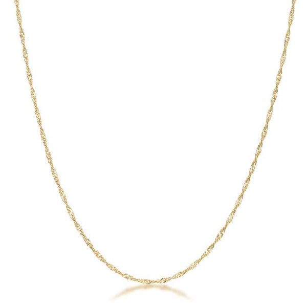 16 Inch Gold Twisted Fashion Chain - THE LUSTRO HUT