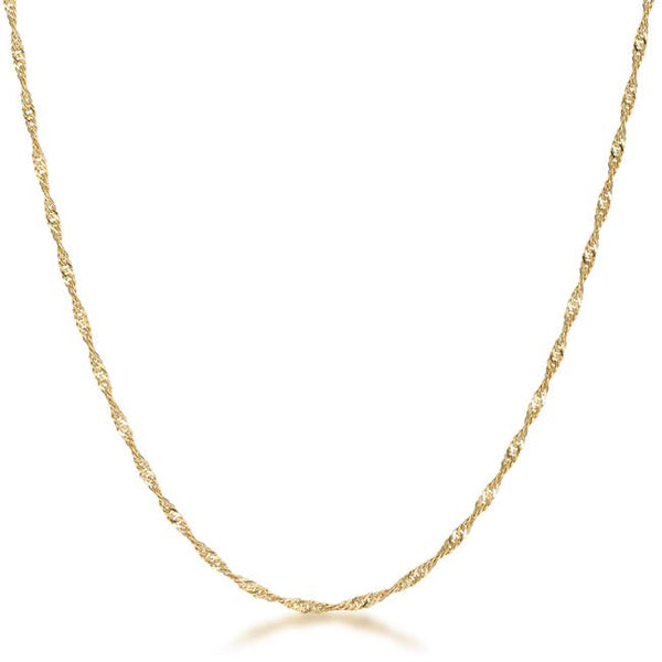 18 Inch Gold Twisted Chain - THE LUSTRO HUT