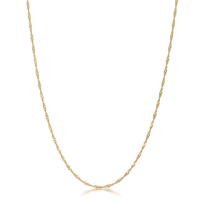 18 Inch Gold Twisted Chain