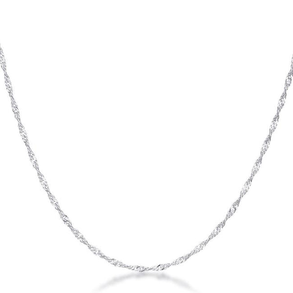 16 Inch Silver Twisted Chain