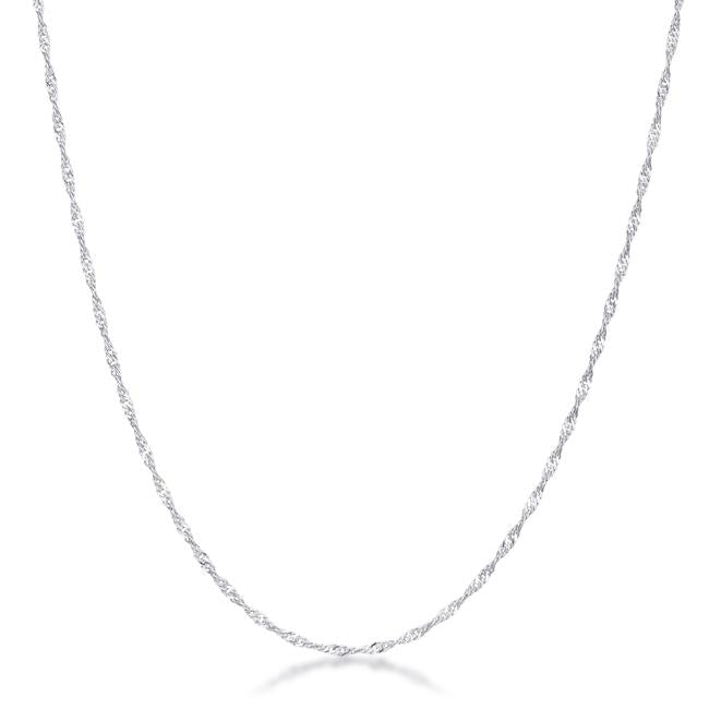 16 Inch Silver Twisted Chain - THE LUSTRO HUT