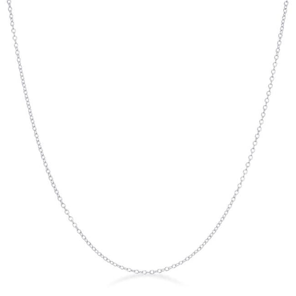 Delicate Sterling Silver Link Chain - THE LUSTRO HUT