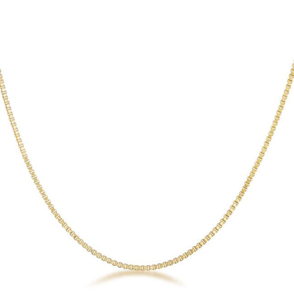 Golden Rolo Chain - 1mm - THE LUSTRO HUT