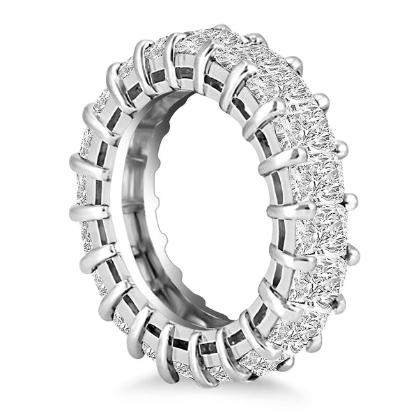 Exquisite 14k White Gold Emerald Cut Diamond Eternity Ring - THE LUSTRO HUT