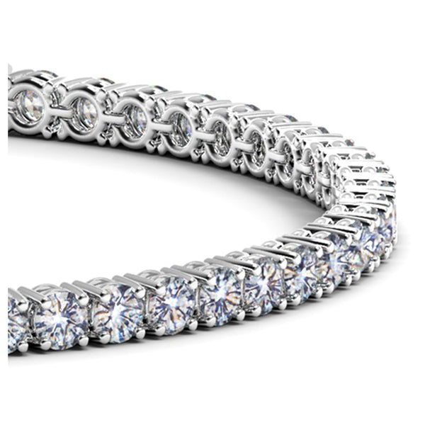 14k White Gold Round Diamond Tennis Bracelet (6 cttw) - THE LUSTRO HUT