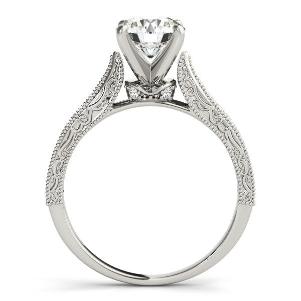 14k White Gold Antique Design Diamond Engagement Ring (1 5/8 cttw)