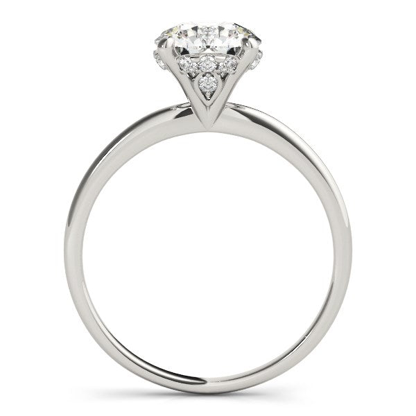 14k White Gold Prong Set Round Diamond Engagement Ring (2 cttw) - THE LUSTRO HUT