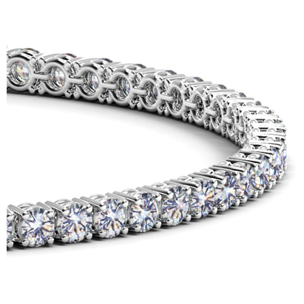14k White Gold Round Diamond Tennis Bracelet (5 cttw) - THE LUSTRO HUT