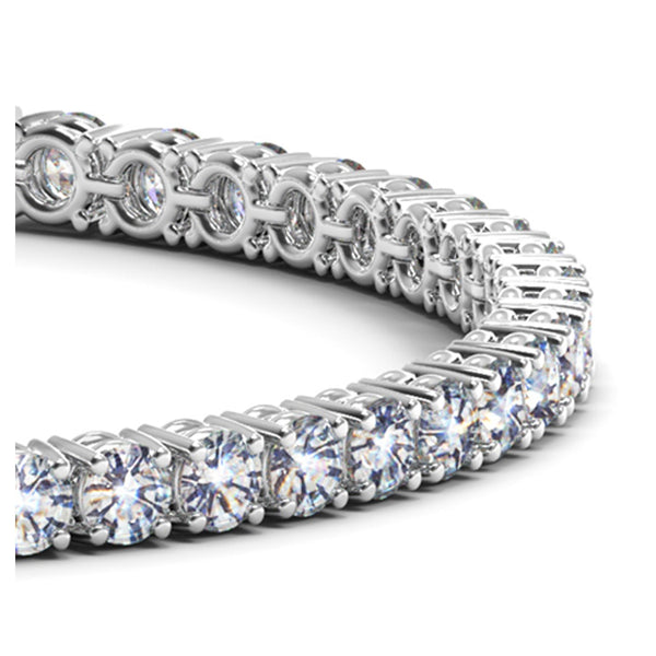 14k White Gold Round Diamond Tennis Bracelet (10 cttw) - THE LUSTRO HUT