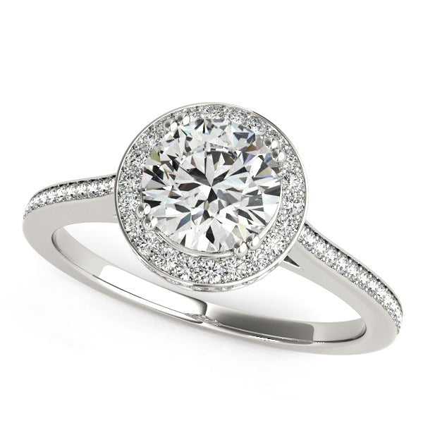 14k White Gold Classic Channel Slim Shank Diamond Engagement Ring (2 cttw)