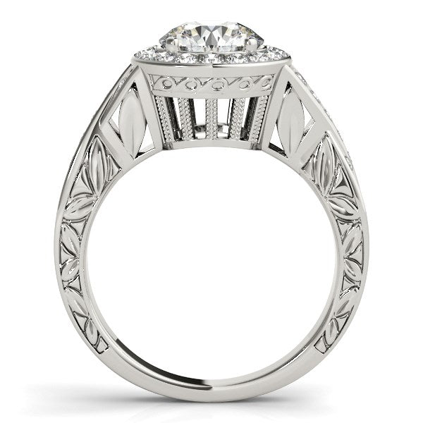 Halo Set Diamond Engagement Ring in 14k White Gold (1 5/8 cttw) - THE LUSTRO HUT