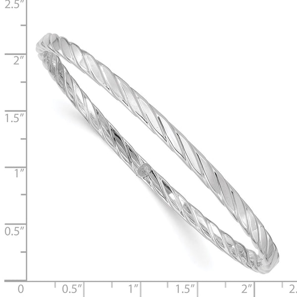 14K White Gold 4mm Bangle