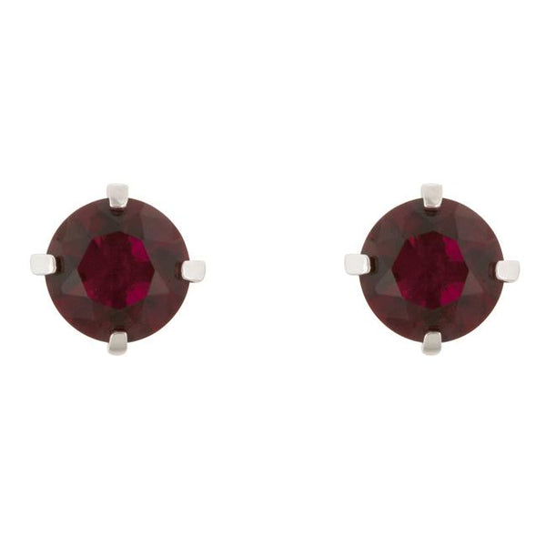 Ruby Cubic Zirconia Studded Earrings - THE LUSTRO HUT