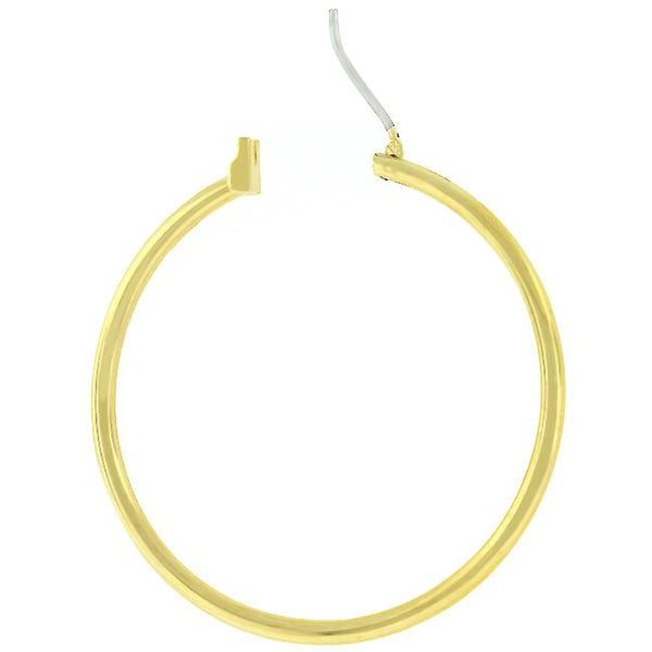Basic Golden Hoop Earrings - THE LUSTRO HUT