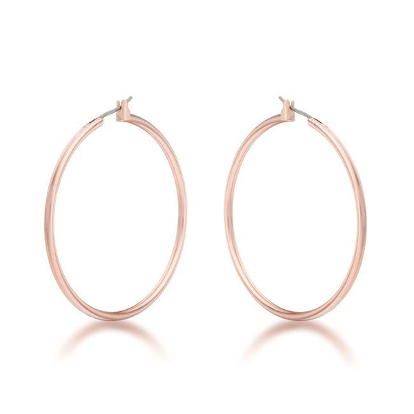 45mm Rose Gold Plated Hoop Earrings - THE LUSTRO HUT