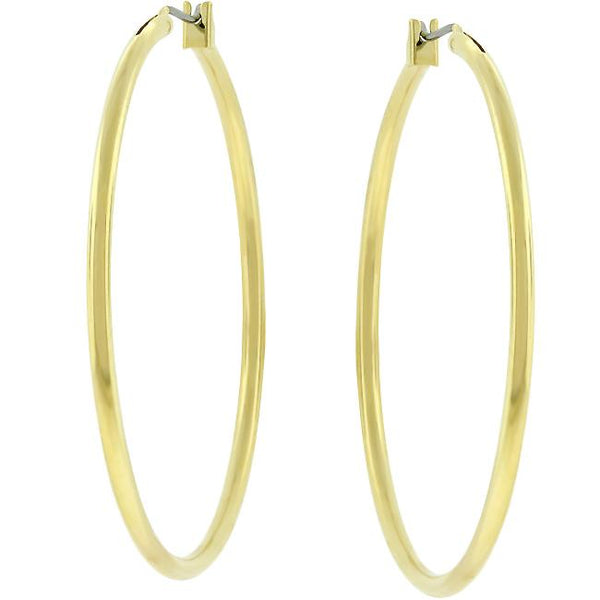 Large Golden Hoop Earrings - THE LUSTRO HUT
