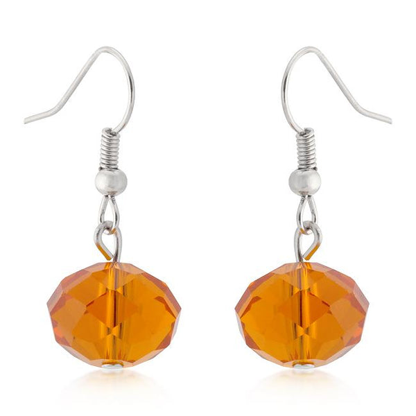 Orange Faceted Bead Earrings - THE LUSTRO HUT