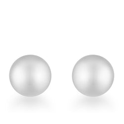 Tina Rhodium Sphere Stud Earrings