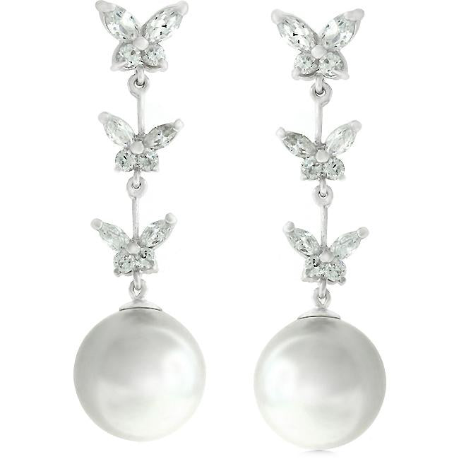 Butterfly Pearl Dangle