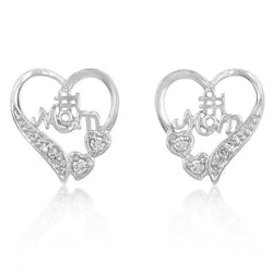 #1 Mom Heart Earrings - THE LUSTRO HUT