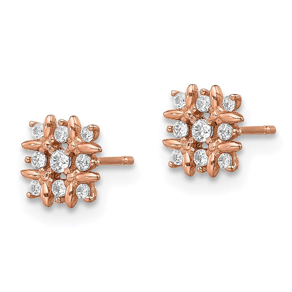 14k Madi K Rose Gold Fancy CZ Earrings