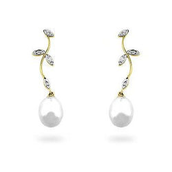Pearl & Diamond Earrings - THE LUSTRO HUT