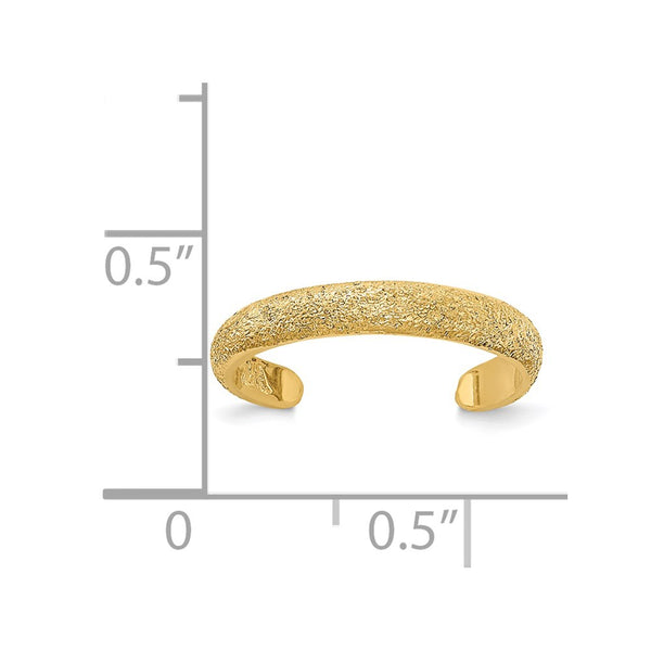 14k Polished Laser Cut Toe Ring