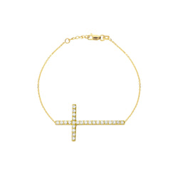 SS E2W CZ YELLOW SIDEWAYS CROSS BRAC
