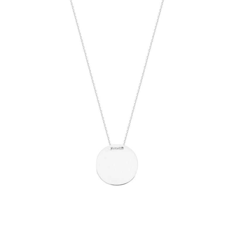 ROUND NAME PLATE NECKLACE
