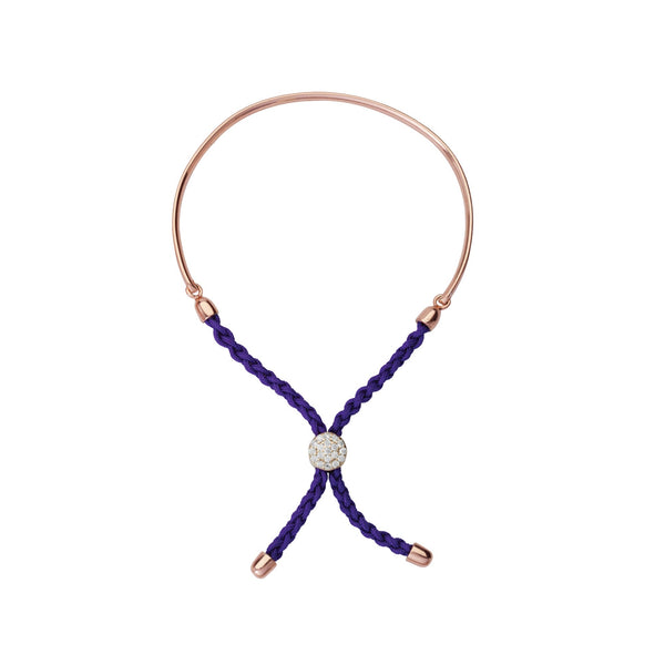 1/2 BAR PURPLE BRAIDED MACRAME BRACELET