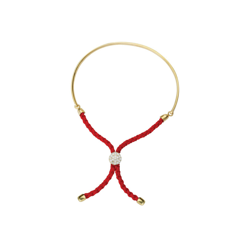 1/2 BAR LIGHT RED BRAIDED MACRAME BRAC