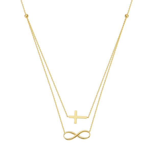 DUO E2W INFINITELY FAITHFUL ADJ.NECKLACE
