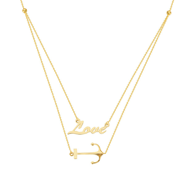 DUO E2W ACHOR YOUR LOVE ADJ.NECKLACE