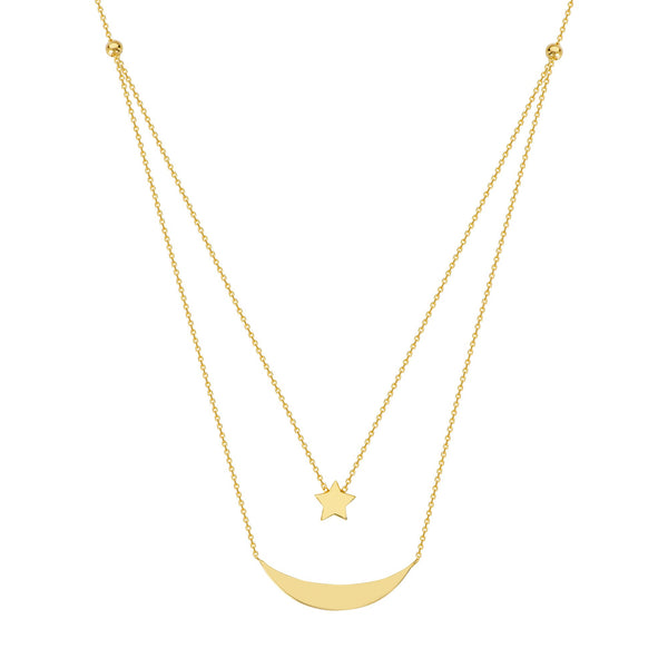 DUO CELESTIAL ADJ. NECKLACE