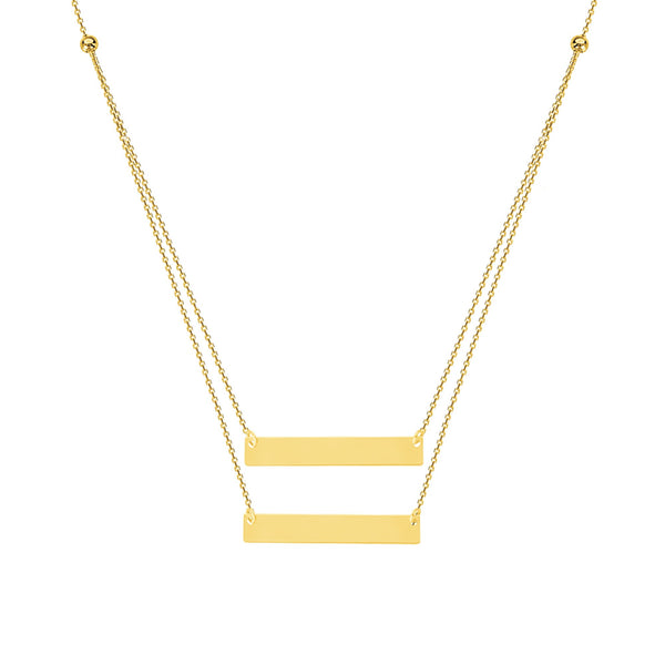 DUO MINI NAME PLATE BAR NECKLACE