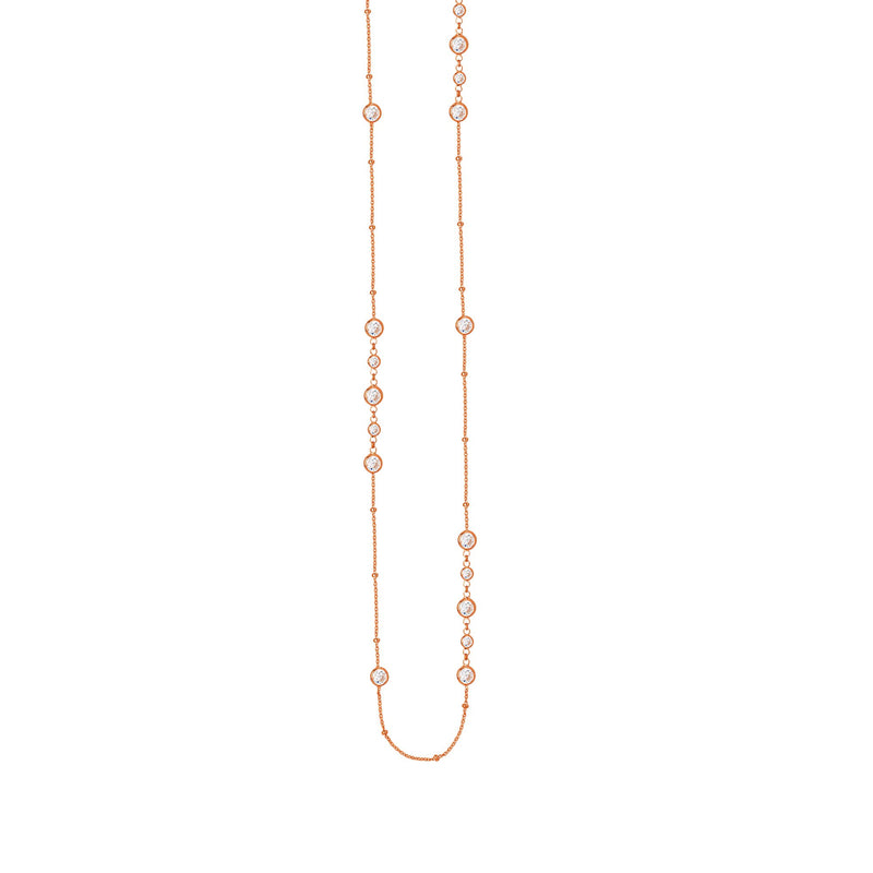 LONG AND LOVELY MUTLI CZ NECK -CABLE/SAT