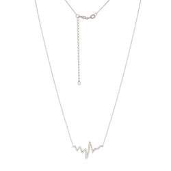 ADJ CZ HEARTBEAT NECKLACE -025 D/C CABLE